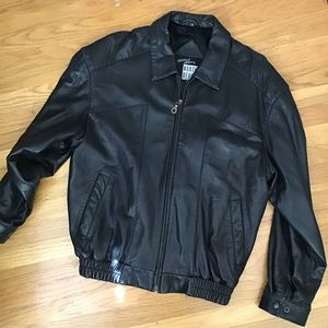 North Beach leather bomber jacket M